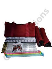 4 Clear  Racks 4 Color Pushers American Mah Jong Set Burgundy Red  Bag