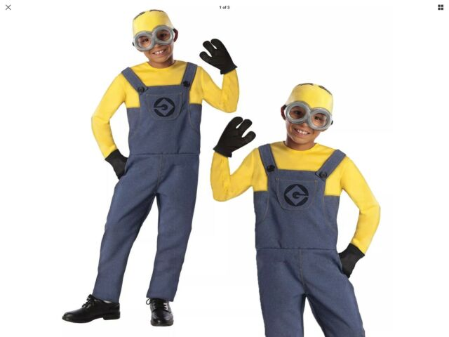 CK316 Despicable Me Boys Minion Dave Party Fancy Dress Costume Kids Book Week