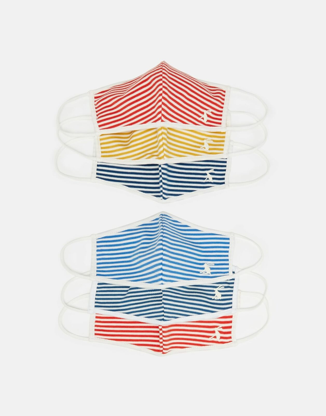 Joules Womens Non Medical Face Covering Family 6-Pack - Multi Stripe - Mixed