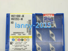 10PCS//BOX   NEW KORLOY CNC Blade VBGT110304-AK H01