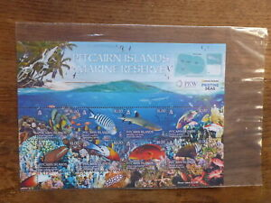 PITCAIRN-Is-2017-MARINE-RESERVE-8-STAMP-MINI-SHEET-MINT-STAMPS