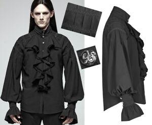 Chemise Jabot Homme Baroque Punkrave Broderie Noir Victorien Gothique Steampunk ggqdwpArn