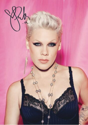 P!NK Signed A4 Size Photo Print Pink USA Singer POP Star Alecia Moore 9632