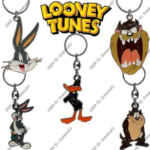 Looney Tunes Licensed Quality Enamelled Metal Key Rings Bugs Bunny Daffy Taz