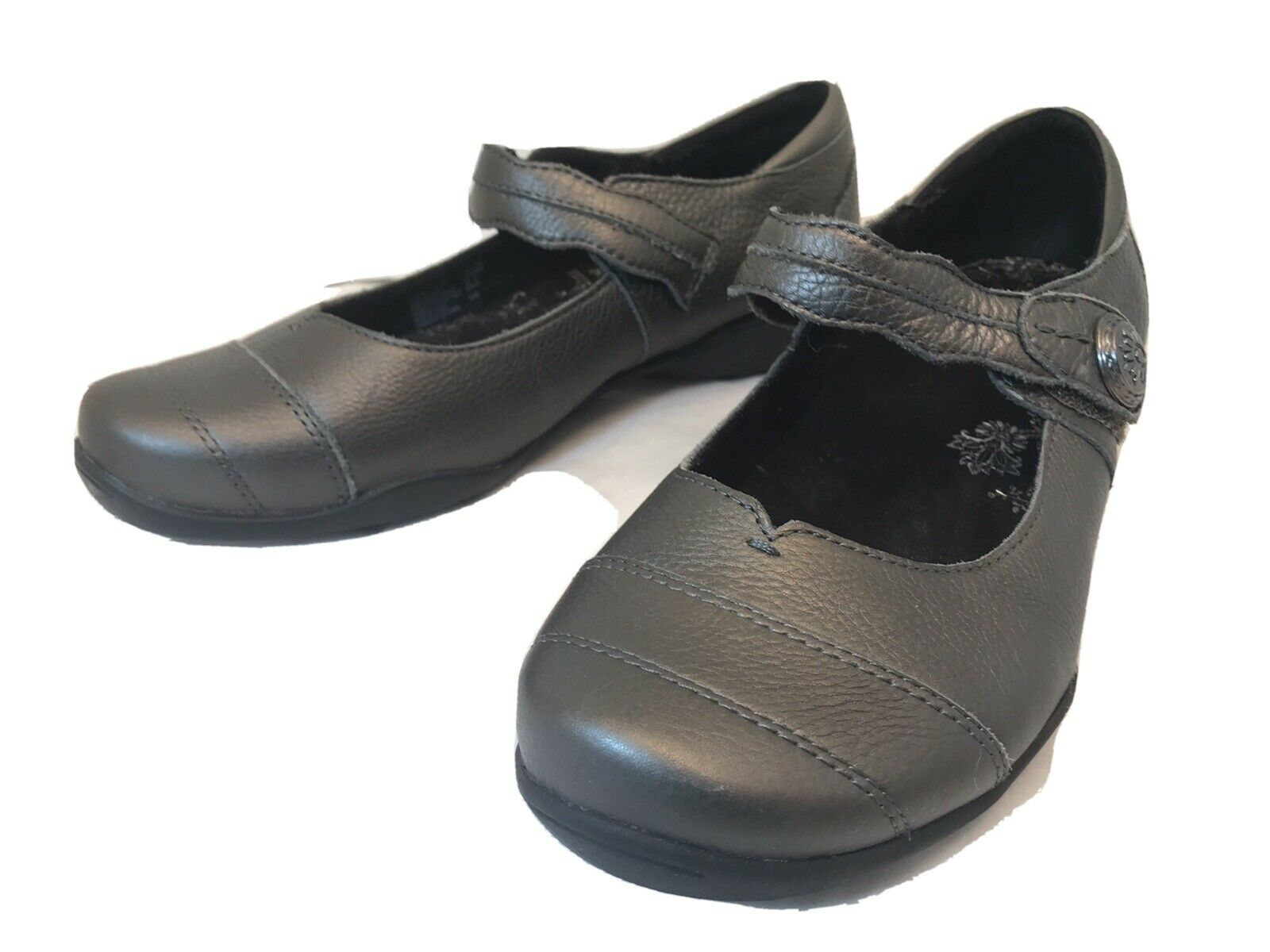 Taos Applause Women's Mary Jane Comfort Shoes Size 9 Gray Leather