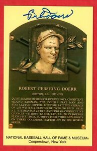BOBBY-DOERR-Signed-Hall-of-Fame-HOF-Plaque-Postcard-Autograph-Auto