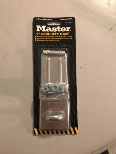 "Master Lock 706D 6/"" Heavy-Duty Security Hasp"