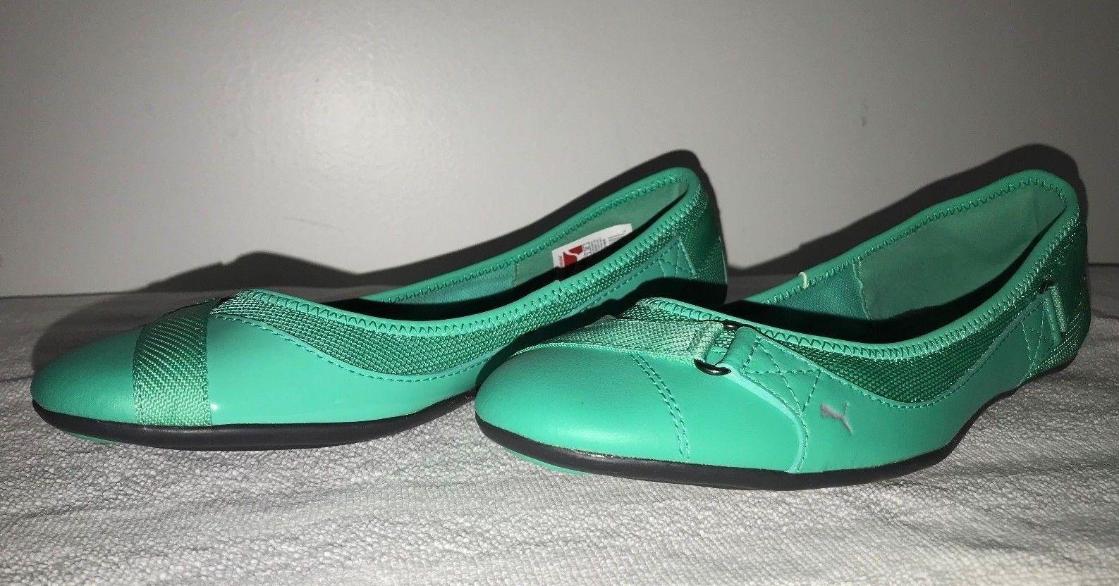 PUMA BIXLEY GLAMM BALLET FLATS WOMAN SHOES 354541 03 GREEN MINT LEAF Ballarina