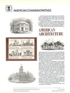 #135 15c Architecture Block #2 #1838-1841 USPS Commemorative Stamp Panel