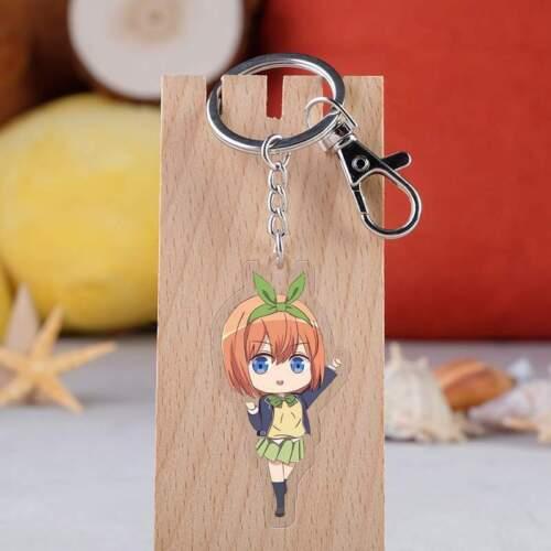 Quintessential Quintuplets Acrylic Pendant Keyring key chain ornament anime