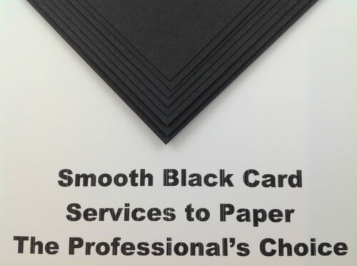 100 Sheets A4 Black Smooth Craft Card Thick Printer Wedding Blank Invite 250gsm