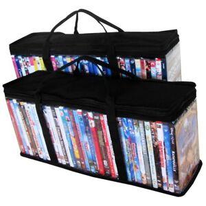 DVD-Blu-Ray-Storage-Container-Organizer-2-Storage-Bags-40-DVD-Each-80-Total