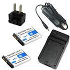 Charger +2x Batteyr for NP-BD1 Sony Cyber-Shot DSC-T500 DSC-T70 DSC-T700 Camera