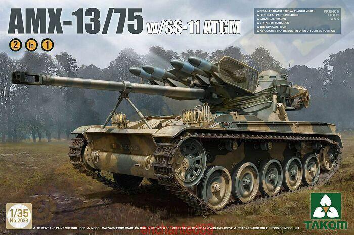 Takom 2038 1 35 French Light Tank AMX-13 75 w SS-11 ATGM