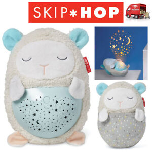 Lullaby Light Cube Portable Musical Night Light Soother and Star Projector with Touch Sensors Blue Baby Soother