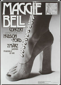 Original-1970s-SIGNED-KIESER-Rock-Poster-MAGGIE-BELL-Lot-314