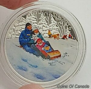 2016-Canada-10-Winter-Fun-PROOF-Silver-Coin-w-color-Box-COA-coinsofcanada