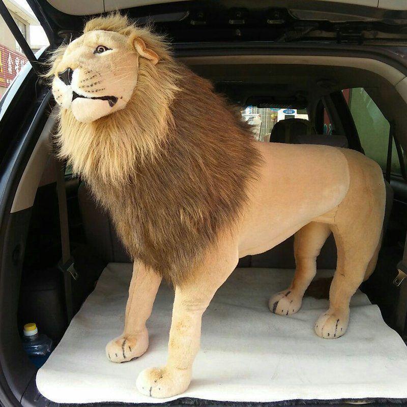 Giant Lion Plush Doll Toy Plush Animal Ride On Zoo Stuffed Christmas Gift 40