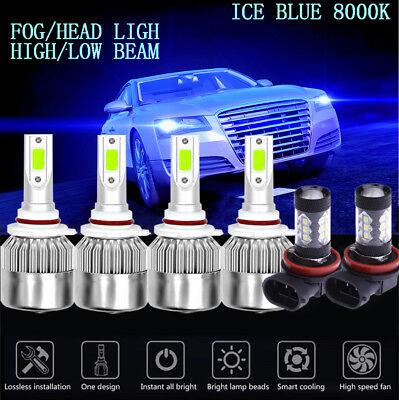 2 HB4 72W COB LED Headlights Light For Honda Civic 2004-2015 ICE Blue 8000K