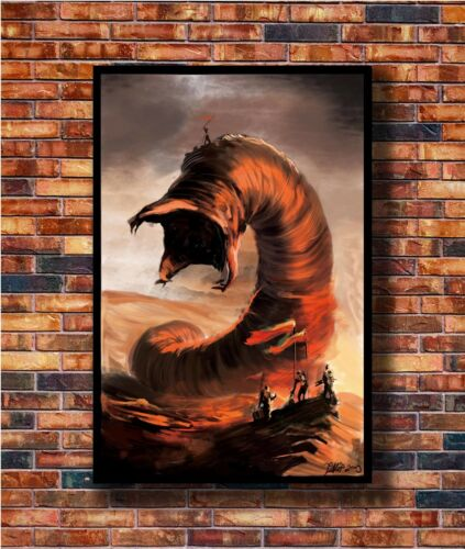 Hot Fabric Poster Dune Frank Herbert Giant Worm Muad/'Dib 36x24 40x27inch Z2295