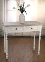 Sofa Table French Provincial Antique White Sideboard 2 Drawers Brand