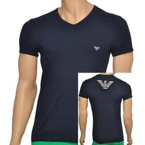 Marine stretch Eagle T Armani Blue in shirt scollo con a V Navy cotone Emporio Underwear x8Bw7q0FBT