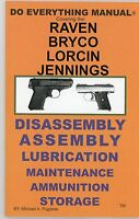 Raven Bryco Lorcin Jennings Pistol Do Everything Manual-parts-disassembly-380-25