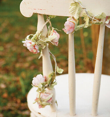 Artificial Rose Flower Garland in Pale Pink by Sass and Belle *Wedding Decor*