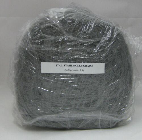 1 kg STAHLWOLLE SCHLEIFWOLLE GRAD 2 MITTEL BIS GROB SCHLEIFEN SCHLEIFMITTEL