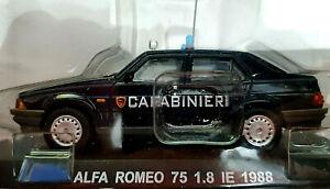 Alfa-Romeo-75-1-8-IE-1988-Carabinieri-Scala-1-43-Atlas-Nuovo