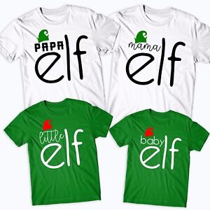 22fa4fb6 Elf Family T-Shirt Funny Cute Christmas Matching Shirts Gift Kids ...