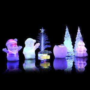 HOT-COLORATO-cambiando-Decorazioni-Albero-di-Natale-Babbo-Natale-LED-Luce-Lampada-Da-Notte-di-Natale
