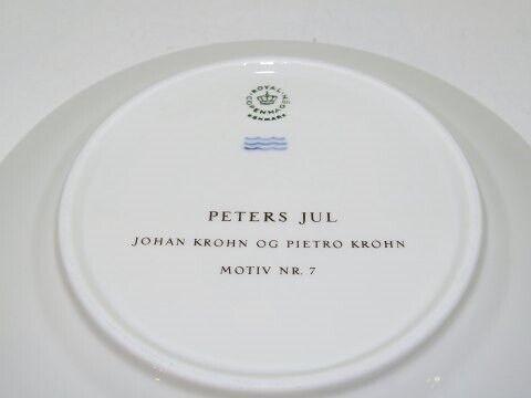 Porcelæn, Peters Jul  Stor kagetallerken 19 cm. - Motiv 7,