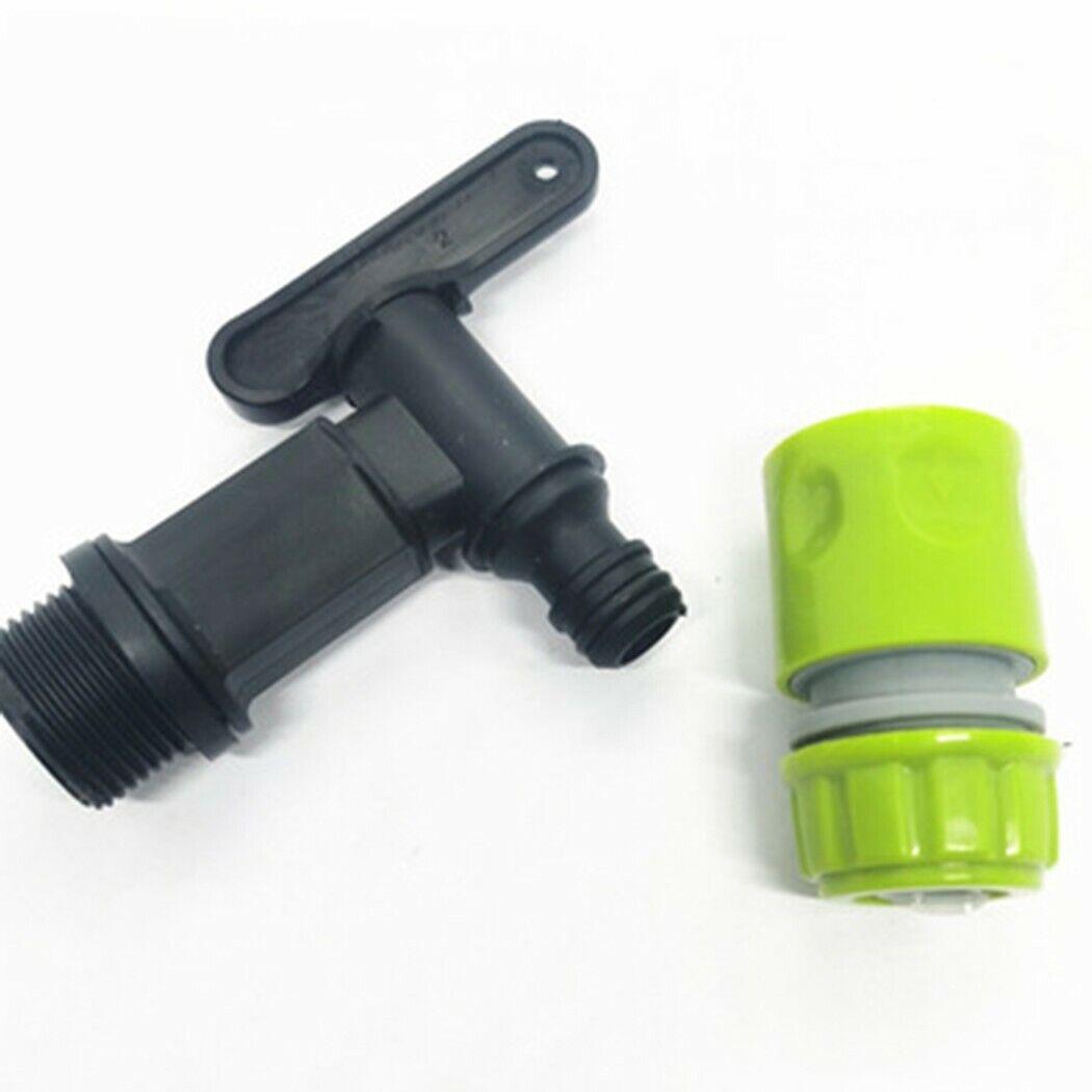 Thread 3/4'' BSP Water Butt Tap Connector Set Garden Hose Quick Click