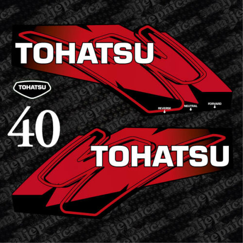 Tohatsu 40 outboard decal aufkleber adesivo sticker set 2012