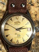 Enicar Sherpa Date Ultrasonic Mens Watch 1958 ( Ar 1035 )