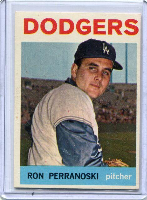 1964 Topps Baseball Card Ron Perranoski Los Angeles Dodgers Near Mint # 30