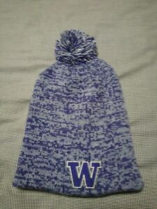 7e3986501a9058 UW Husky Beanie Ski Hat **NEW** Purple/Grey-gold Washington Huskies ...
