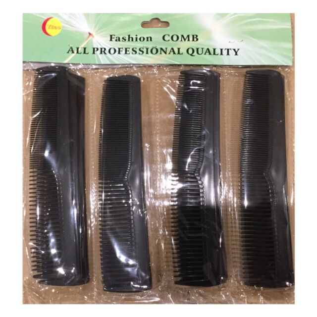 Hair Combs Plastic Hair Slides 12 Pack Of Budget Black Brown Or Clear 7Cm Com...