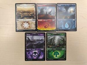 M21 Showcase Basic Land 5 Card Set (1 of each) Magic MTG Core Set 2021 M4375