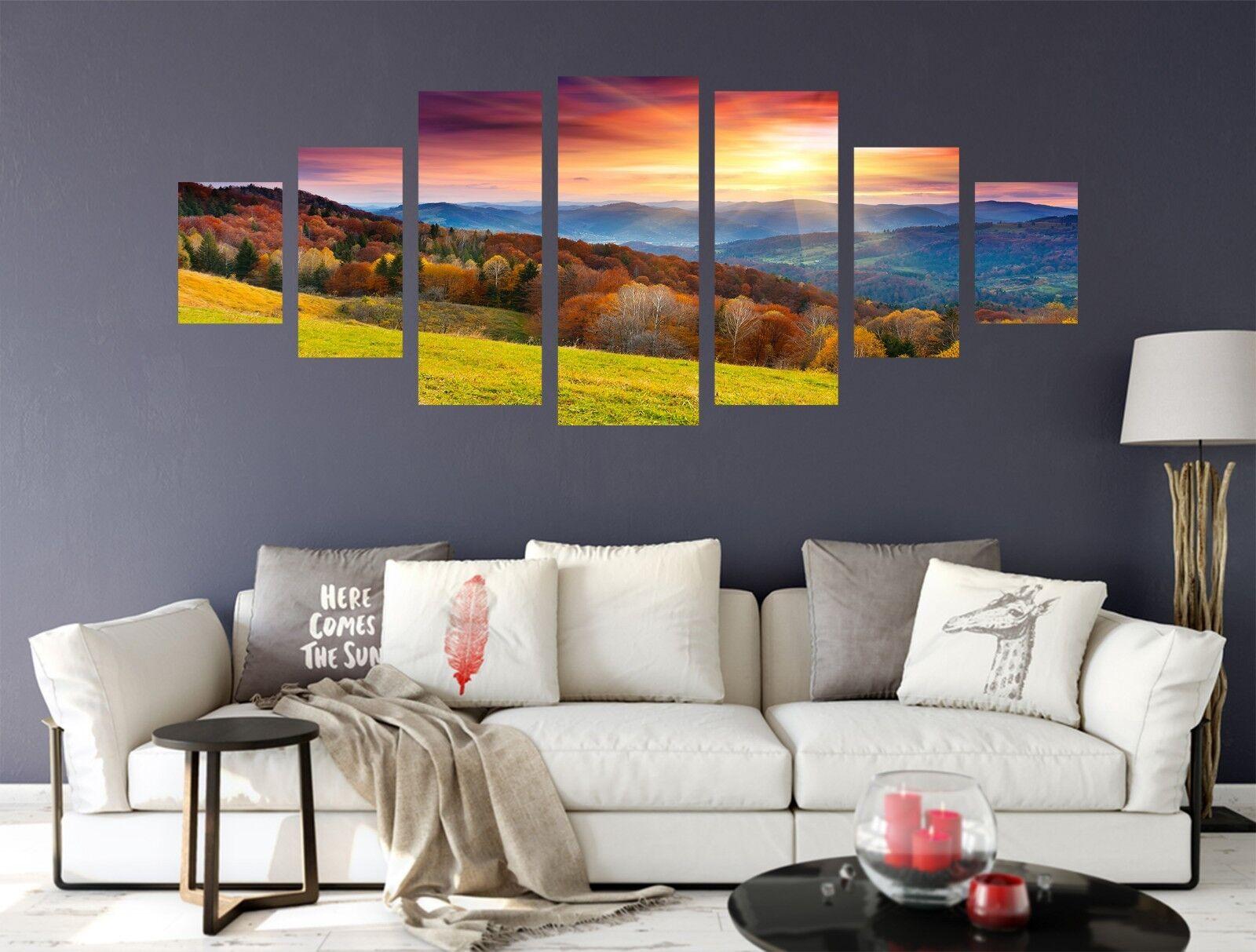 3D Sunrise Hill 66 Unframed Drucken Wand Papier Decal Wand Deco Innen AJ Wand