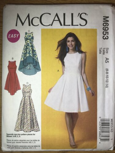 NEW McCall/'s /'Easy/' Sewing Pattern M6953 Misses Dresses Back Zipper