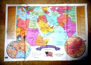 Details about MAP EXTENDED MIDDLE EAST FIGHT FOR FREEDOM USA FORCES  MILITARY BASES