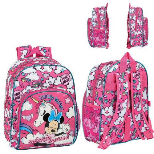 Disney Minnie Mouse Unicorns Backpack School Bag Travel Rucksack Kids Lunch Bag
