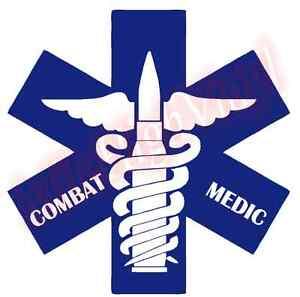 Combat-Medic-Vinyl-Decal-Window-Glass-Sticker-Star-Life-Bullet