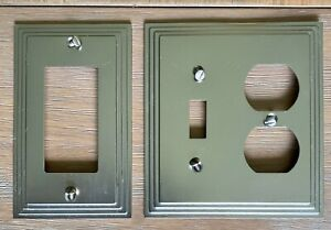 Wall Plates /& Outlet Covers Art Deco Step Satin Black Nickel  Switch Plates