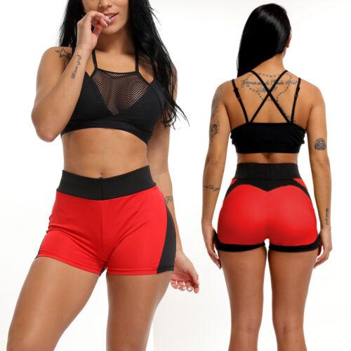 Summer Pants Women Sports Shorts Gym Workout Waistband Skinny Yoga Short S M19