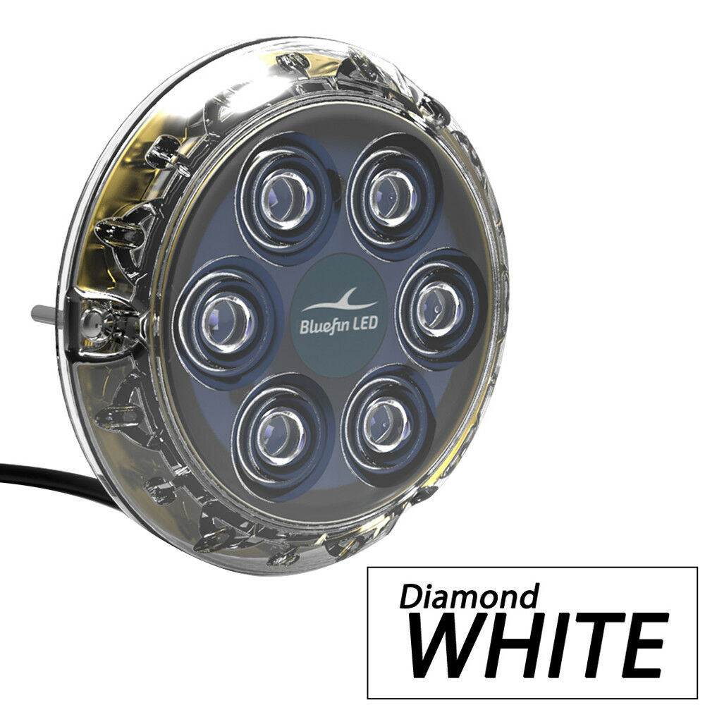 BlaufinLED Piranha P12 Underwater Light - Surface Mount Diamond - 12/24V - Diamond Mount Weiß d25959