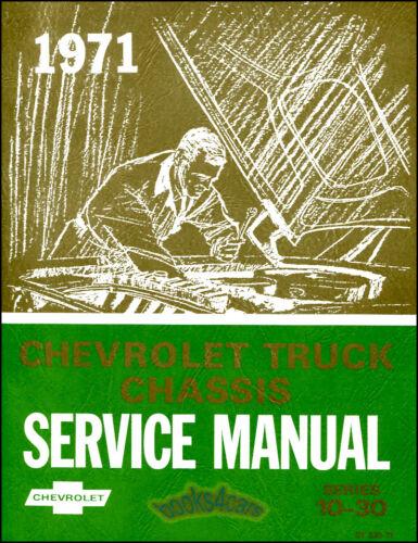 SHOP MANUAL SERVICE REPAIR 1971 CHEVROLET BOOK CHEVY TRUCK PICKUP GMC