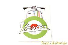 "VESPA Aufkleber ""Beinschild Target"" - Grün - Italy Italia Italien Mod Patch V50"